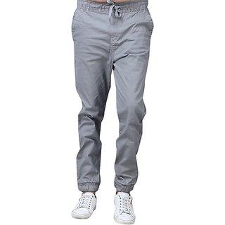 Xee Slim Fit Men Grey Trousers
