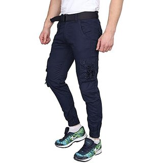 Xee Blue Regular Fit Cargo For Men