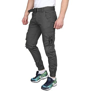 Xee Men Grey Mid Rise Regular Fit Cargo