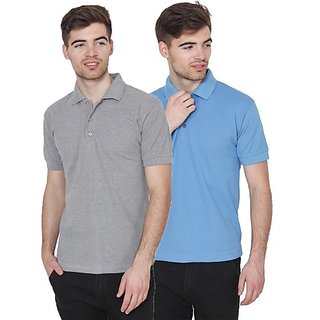 6ab79f85ef83 Buy Xee Solid Men s Polo Neck Grey T-Shirt Online   ₹1599 from ShopClues