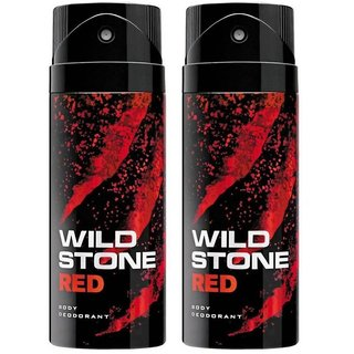 wild stone red fresh spicy deo body spray for men pack of (2) pcs