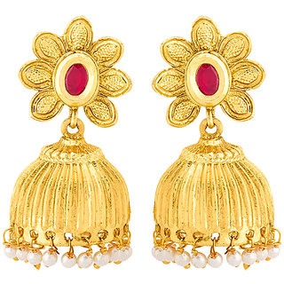 Voylla Sanskriti Pearl Drop Ethnic Earrings