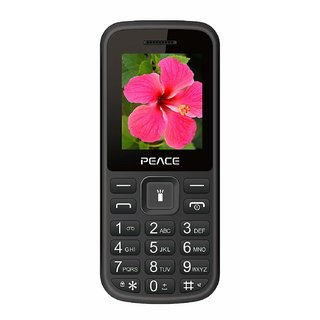 Peace P1-Black (1.8-inch, Dual Sim, 850 Mah Battery / 16GB Expandable / BIS certified/ Wireless FM)