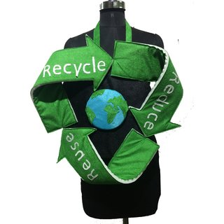 Pink Apricot Recycling signsave earth/planetClean green earth fancy dress costume