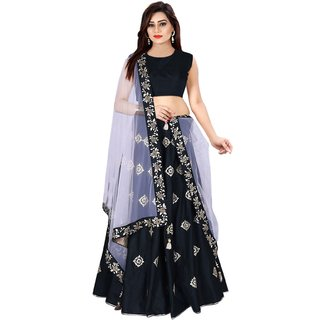 Florence Black Silk Gota Work Lehenga Choli