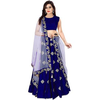 Florence Blue Silk Gota Work Lehenga Choli