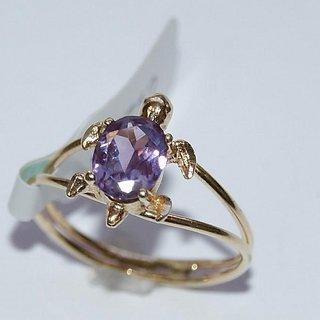 5.25 Ratti Amethyst Kachua / Turtle Ring natural  original silver ring Jaipur Gemstone