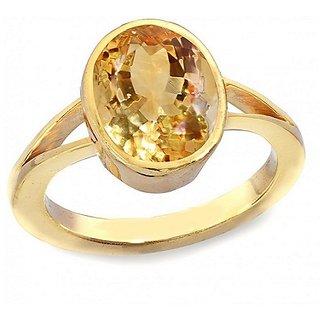 7.25 ratti Yellow Sapphire Panchdhatu Ring Pukhraj stone Jaipur Gemstone