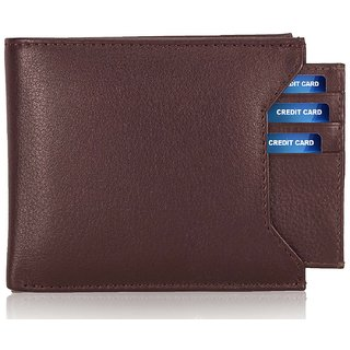 Bi-Fold Formal Plus Casual Brown Wallet for men, Separable card holder, Hand Made, Long Lasting Quality, Pure Leather (pu) (M-0012)