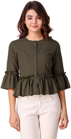 Texco Olive Shirt Top for Women