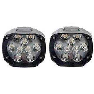 Bike / Motorcycle 9 LED Headlight Driving Fog Spot Light 2 PCS