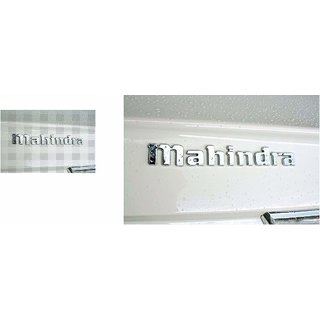 DELHITRADERSS 3D Mahindra Chrome Plated Emblem Logo Decal for Car/SUV/Sedan/Automobiles