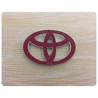 DELHITRADERSS 3D Toyota Logo Chrome Plated Emblem Logo Decal for Car/SUV/Sedan/Automobiles