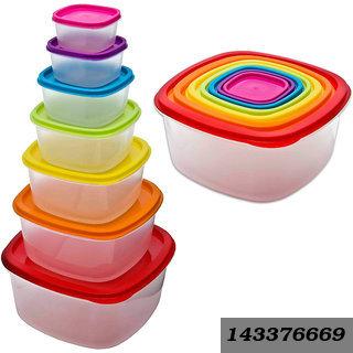 Rainbow Food Storage Containers-7Pcs(Sr-Rainbow-07)