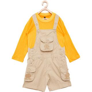 480846077b8 Buy FirstClap Cotton Knee Length Dungaree and T-Shirt