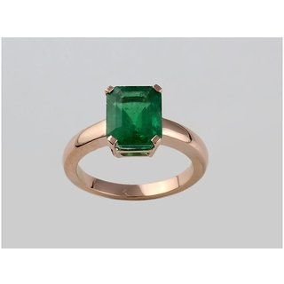 Emerald Ring 5.00 ratti stone panna gold plated ring effective  unheated stone ring Jaipur Gemstone