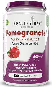 HealthyHey Nutrition Pomegranate Fruit Extract 500mg- 120 Vegetable Capsules