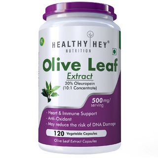 Healthyhey Nutrition Olive Leaf Extract 20 Oleuropein 500Mg - 120 Vegetarian Capsules