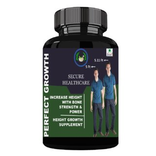 Secure Healthcare Perfect Growth, Speed Height (30 Capsules) Ayurvedic - Pack of 1