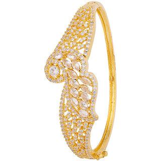 Voylla Golden CZ Peacock Bracelet