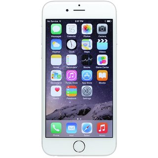 Apple iPhone 6 (Silver, 16 GB)(Refurbished)(1 Year WarrantyBazaar Warranty)