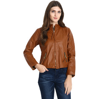 ee722818f6dd98 Buy Raabta World Italian Brown Faux Leather Jackets Online - Get 62% Off