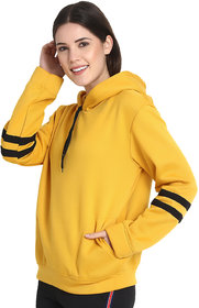 Raabta Mustard Yellow Sweatshirt with Strip Sleeve