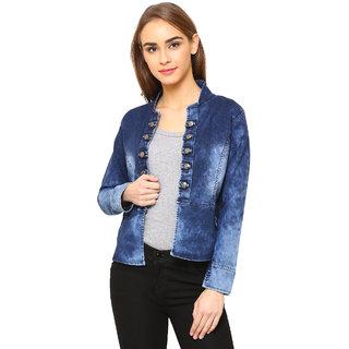 Dryzee Women's Denim Solid Long Sleeve Jacket
