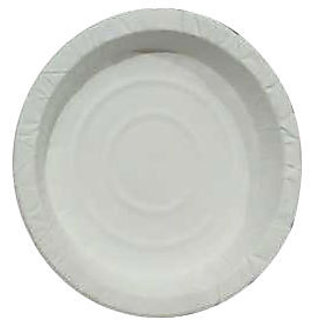 Disposable White Paper Party Plates 8 Inches (Pack of 100) By O1E Dish