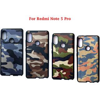 Redmi Note 5 Pro - Soft Silicon Flexible Army Designer Premium Back Case Cover for Redmi Note 5 Pro