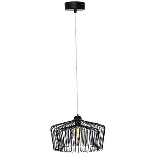 Fos Lighting Modern Wire Cage Dome Black Hanging Pendant Light