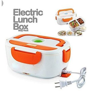 d3a8a3ac3073 Hard Plastic Multi-Function Electric 40W Heated Portable Food Warmer |  Electric Lunch Box | Tiffin Box |1.5L (Multicolou