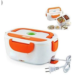 Hard Plastic Multi-Function Electric 40W Heated Portable Food Warmer   Electric Lunch Box   Tiffin Box  1.5L (Multicolou