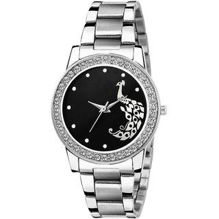 New Best Deal In Watch For Steel Strip Black Dail Analog Watch For Women Watch