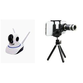 Wifi Camera & Telescope Mobile Phone lens Dual Antenna 720P Wifi IP P2P  Wireless Wifi Camera CCTV Night Vision Outdoor Waterproof security Network