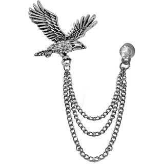 Sullery Flying Eagle with Hangging Chain Lapel Pin Brooch