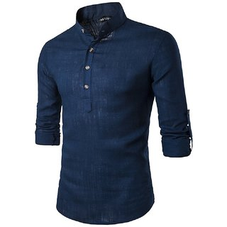 Blue Cotton Sort Kurta