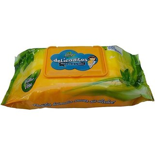 Cloudaby Premium Paraben Free Baby Wet Wipes with Aloe Vera - 100 Wipes