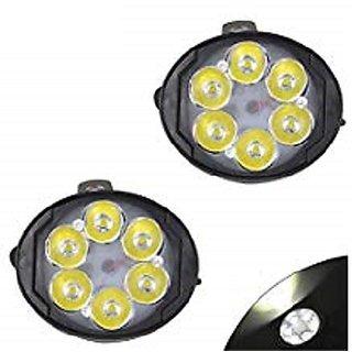 6 LED Motorcycle Bike LED Headlight Driving Fog Spot Light Lamp 2pcs