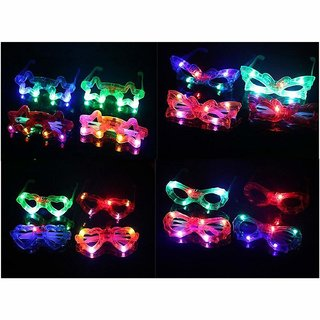 Birthday Return Gifts For Kids - Flashing Party LED Light Glasses - Set Of 6 - For Both Boys And Girls