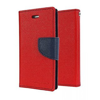 Mercury Goospery Fancy Diary Wallet Flip Cover for LENOVO K8 NOTE -RED