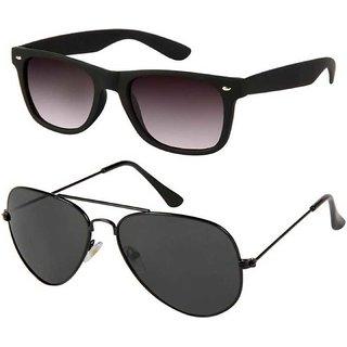 Ivonne Wayfarer, Aviator Sunglasses (Black)