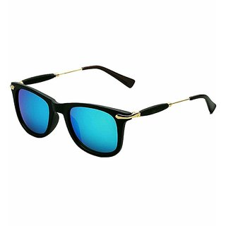 Ivonne UV400 Blue Mirrored Wayfarer Sunglasses for Men  Women