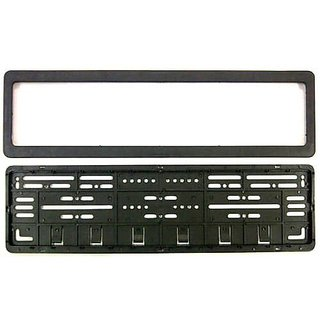 Delhi Traderss CAR Number Plates Frame - (Number Plates Holders)-Front and Back