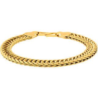 Dare by Voylla Dazzling Gold Plated Foxtail Link Chain Bracelet