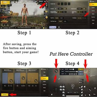 Tech Gear PUBG Metal Controller Mobile Game Trigger L1R1 Shooter Joystick  Gamepad for Smartphones For PUBG, Fortnite Gaming Accessory Kit