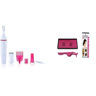 Style Maniac Sweet Electric Shaver For Women 3 Second Magnetic Eyelash (Pair Of 2) With An Amazing Hair Style Booklet.