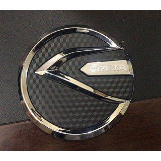 DELHITRADERSS Chrome Hyundai Creta Fuel Tank Cover Lid Metallic Tank Fuel Cap Cover