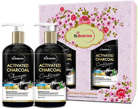StBotanica Activated Charcoal Hair Shampoo + StBotanica Activated Charcoal Hair Conditioner, 300ml