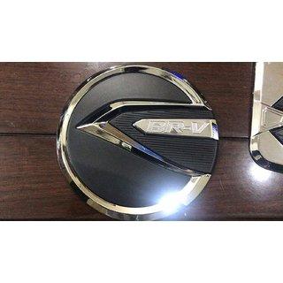 DELHITRADERSS Chrome Honda BR V Fuel Tank Cover Lid Metallic Tank Fuel Cap Cover